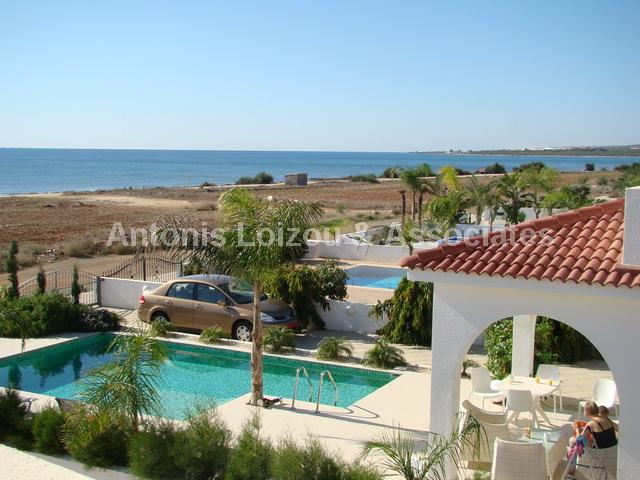 Three Bedroom Sea Front Detached Villa with Pool in Agia Thekla properties for sale in cyprus