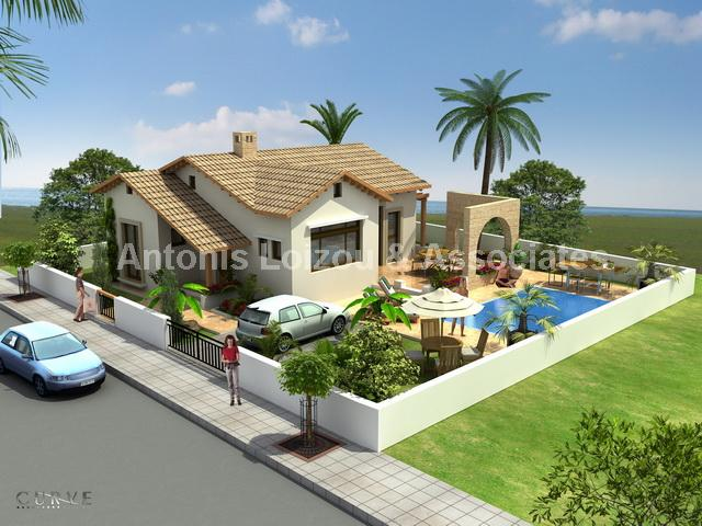 Three Bedroom Detached Bungalow with Private  Pool properties for sale in cyprus