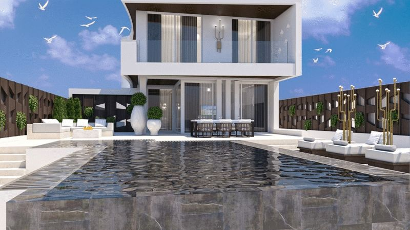 Luxury Beach Front Villa in Ayia Thekla properties for sale in cyprus