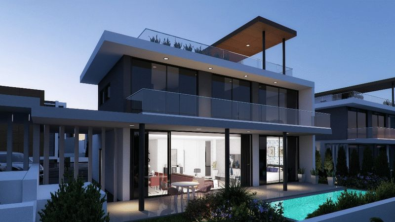 Contemporary 4-beds Detached Villa in the Heart of Protaras with properties for sale in cyprus