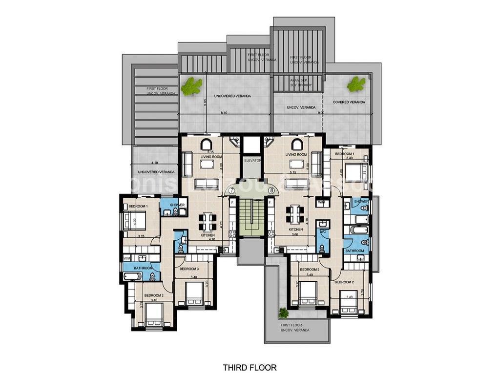 Three Bedroom Penthouse In Deryneia properties for sale in cyprus