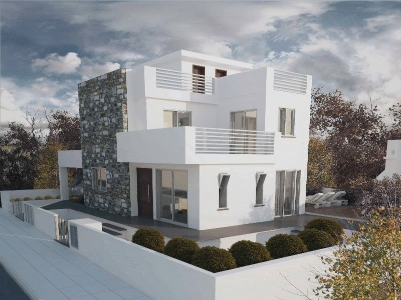 Three Bedroom Villa with Roof Garden and Sea View in Kapparis properties for sale in cyprus