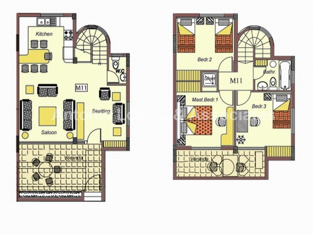 Three Bedroom Maisonette with Title Deed properties for sale in cyprus