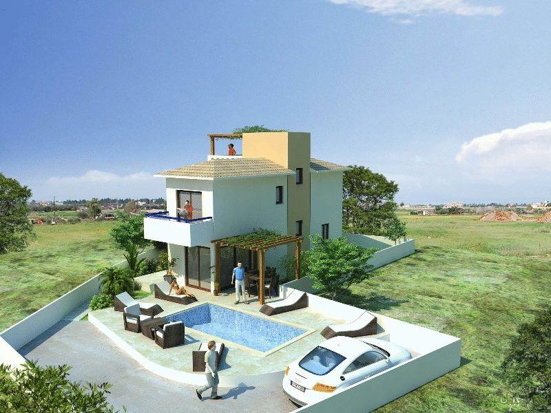Corner Detached Villa near Konnos Bay properties for sale in cyprus