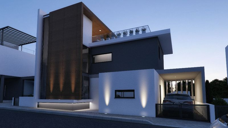 Contemporary 3-Beds Detached Villa in the Heart of Protaras with Roof Garden properties for sale in cyprus