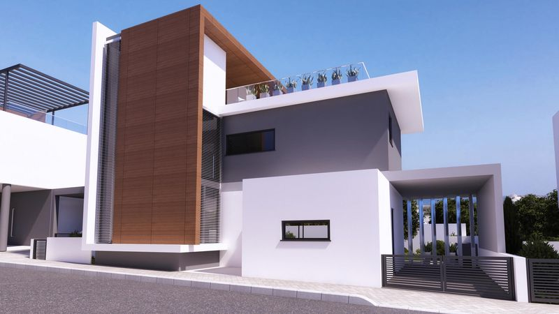 Contemporary 4-beds Detached Villa in the Heart of Protaras with Roof Garden properties for sale in cyprus