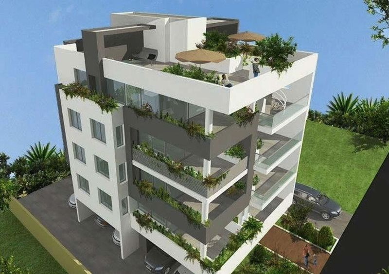 LUXURY 2 BEDROOM PENTHOUSE WITH ROOF GARDEN FOR SALE - DROSIA properties for sale in cyprus