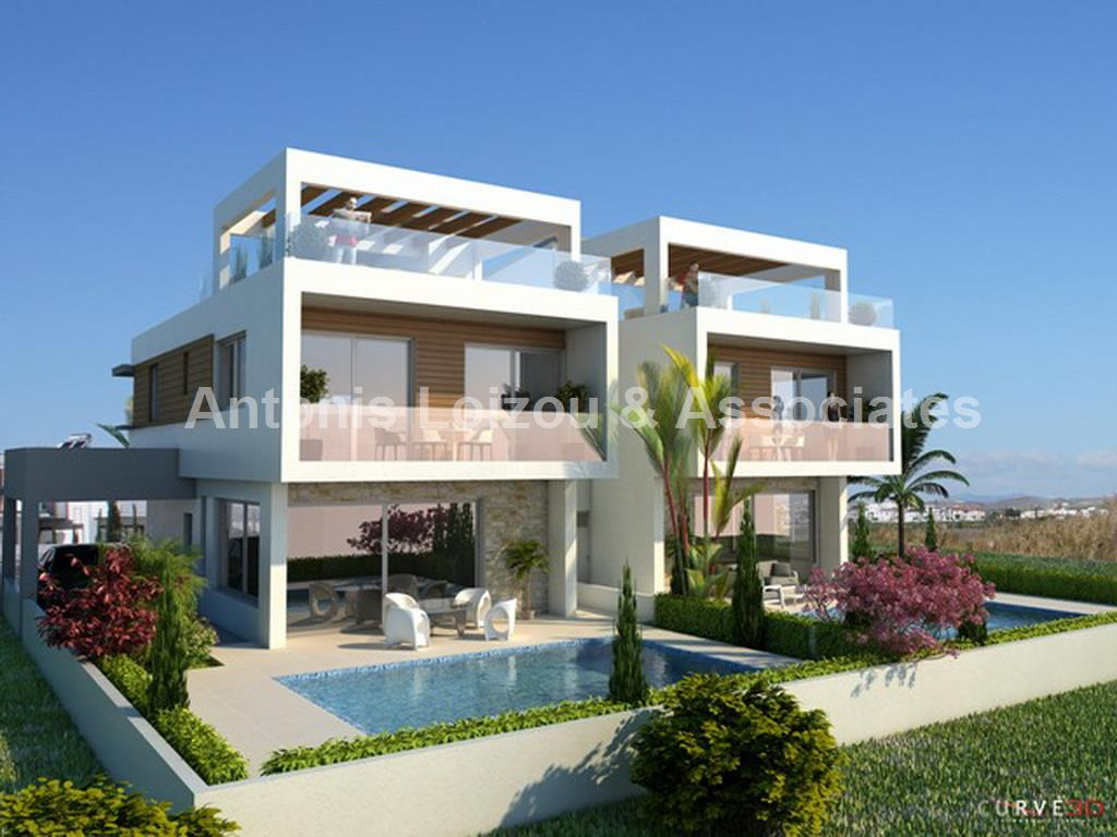 Three Bedroom Link Detached House with Sea Views properties for sale in cyprus
