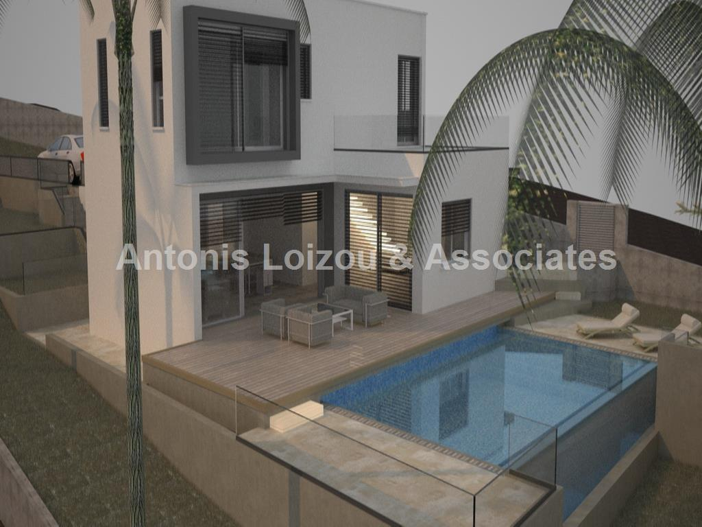 Three bedroom villa with pool and with panoramic view in Peyia  properties for sale in cyprus